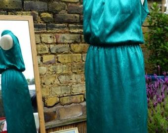Fabulous Emerald Vintage 80's Dress