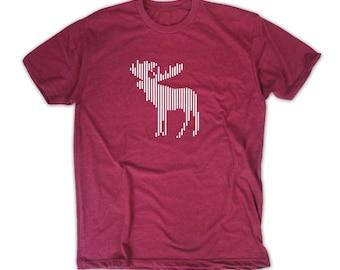 Moose Shirt - Barcode Animal T-shirt Mens and Womens Tee