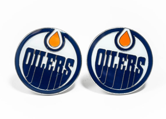 Edmonton Oilers Cuff Links -- FREE SHIPPING with USPS First Class Domestic Mail