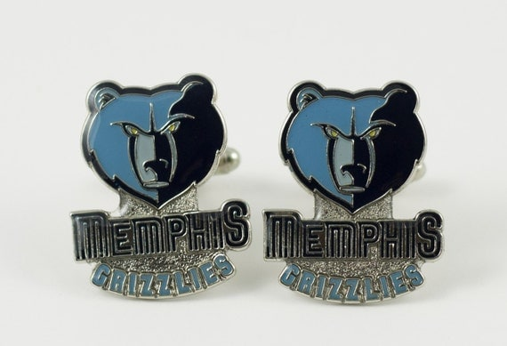 Memphis Grizzlies Cuff Links -- FREE SHIPPING with USPS First Class Domestic Mail
