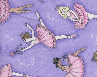 Ballerina,on lavender ,silver Glitter