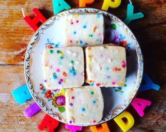 Small Box Birthday Cake Shortbread Cookies