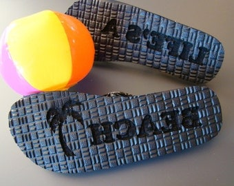 Custom Engraved Printed Personalized Flip Flops Ladies