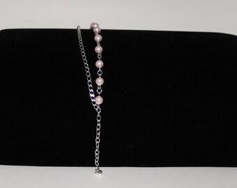 Swarovski Pearl Bracelet (Rosaline)