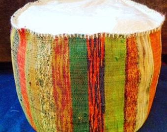 Round Rug Pouf Ottoman