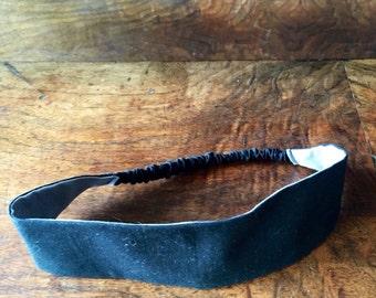 Headband, Reversible Headband, cotton headband, boho headband, boho, Workout Headband, Yoga Headband, grey headband, black headband,