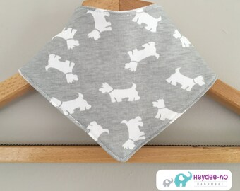 Cotton baby bandana bib – Scotty dog