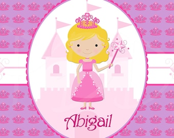 Personalized Children's Placemat - Princess
