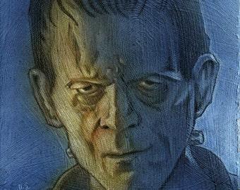 Frankenstein - painting painting - original