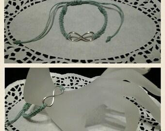 Macrame bracelet with a infinity charm