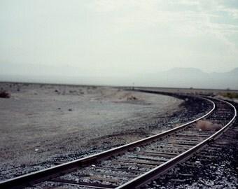 Desert Photography, California, Railway, Adventure, Journey, Analog Photography, 35mm, Train, Vintage, Desert, Summer, Freedom, Empty Spaces