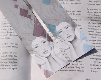 Two Square Water Paint Bookmarks