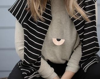 Fan Balsa Wood Necklace