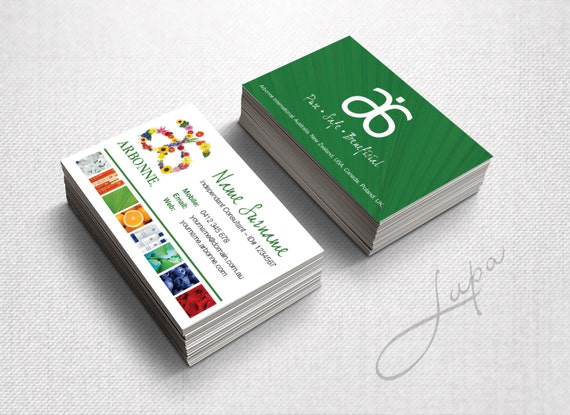 Arbonne Business Cards 18 digital files supplied only