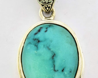 Turquoise in Sterling Silver pendant