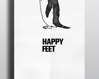 Happy Feet Minimalist Graphic Poster