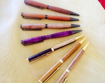 Handmade Turned Slimeline Pens
