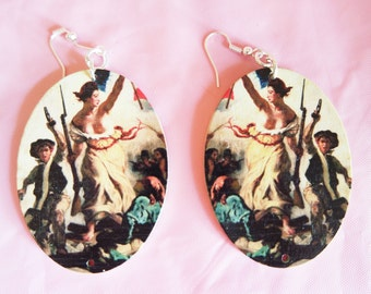 EARRINGS DELACROIX-Liberty leading the people