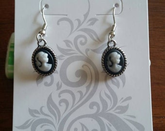 Black And White Silhouette Earrings