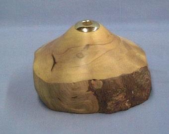 Maple pen holder with brass insert.