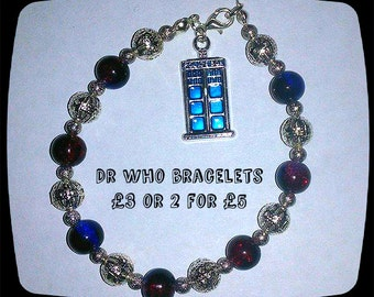Dr who inspired charm bracelets