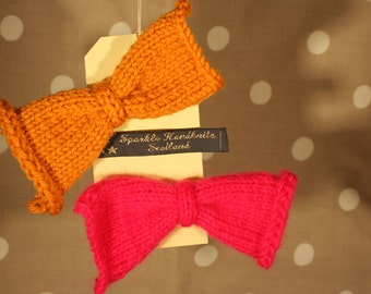 Knitted Hair Bow (Pack of 2)