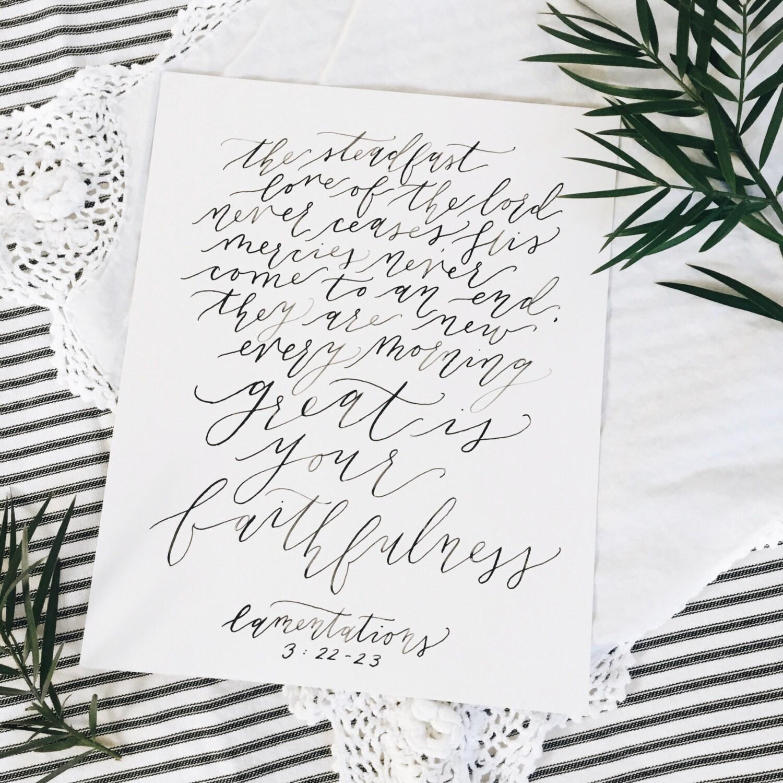 Calligraphy Bible Verse Print