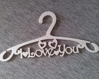 "Сoat hanger with a words ""I Love You"""