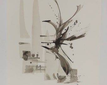 Drawing ink abstract