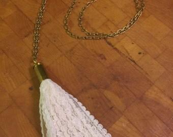 Lace Tassel Necklace