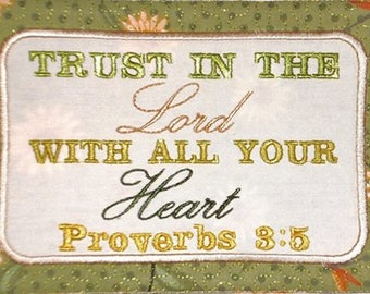 ITH Scripture Mug Rug Embroidery Design
