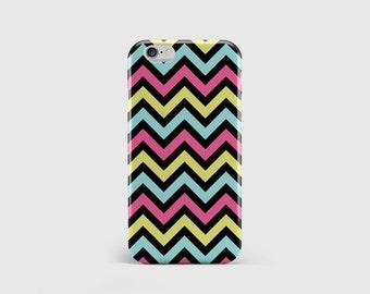 Bright Chevron iPhone Case, Zig Zag Print, Retro Pattern, Stripe Pattern Stripes Phone Case Cover iPhone 7 iPhone 6 iPhone 5 \ hc-pp001