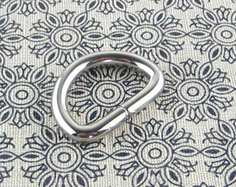 3/4 inch (inner diameter) Silver D-ring 14 pieces 3.5MM thickness
