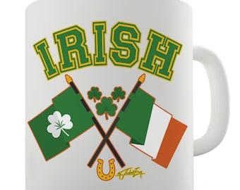 Irish Flag St Patrick's Day Ceramic Novelty Gift Mug