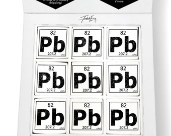 Periodic table lead etsy periodic table of elements pb lead printed magical marshmallows urtaz Images