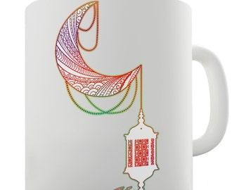 Decorative Moon Lantern Ceramic Novelty Gift Mug