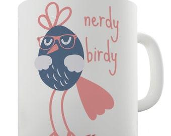 Funny Nerdy Birdy Ceramic Mug