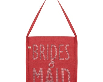 Wedding Brides Maid Rhinestone Tote Bag