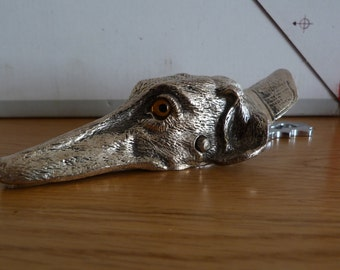 silver plated dog clip