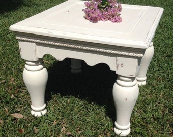 Beautifully refurbished End Table -Shabby chic