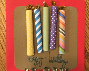Happy Birthday - 3D Candles