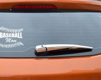 "Baseball Mom Car Decal 4-1/2""X5"""