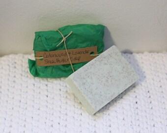 Cedarwood and Lavendar Shea Butter Soap, Shea Butter Soap, Exfoliating Soap, Lavendar Scent, Cedarwood Scent, Apricot Seed Exfoliant, Soap