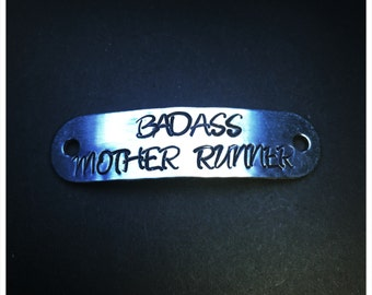 Badass Mother Runner shoelace tag