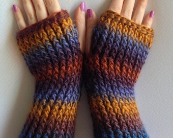Handmade fingerless gloves/handwarmers/texting gloves