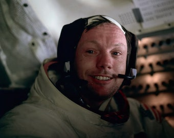 Apollo 11 Astronaut Neil Armstrong After His Lunar EVA - 5X7, 8X10 or 11X14 NASA Photo (EP-675)