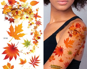 Supperb® Temporary Tattoos - Autumn Leaves