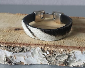 Zebra bracelet silver