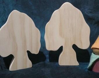 Set of 2 raw trees - 008
