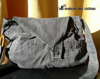 Bag shoulder recycled from pants